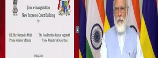 PM Modi, Mauritian counterpart Pravind Jugnauth jointly inaugurate new Supreme Court building in Port Louis