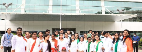 LGBTQ community honored in unique fashion: member hoists Indian Flag at Manipal Hospitals